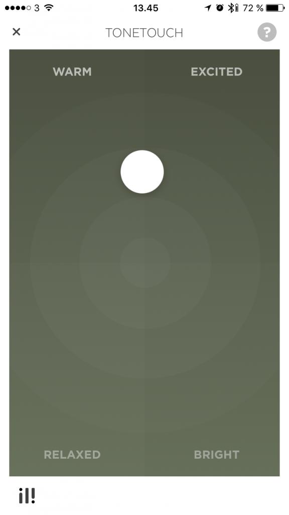Tonetouch er en simpel og  effektiv equalizer. Godt tænkt.
