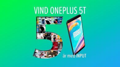 Photo of iNPUT Fylder 5 år! Vind en OnePlus 5T