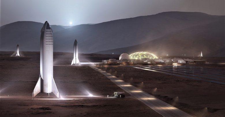 Photo of Elon Musk viser billeder af kommende Mars base