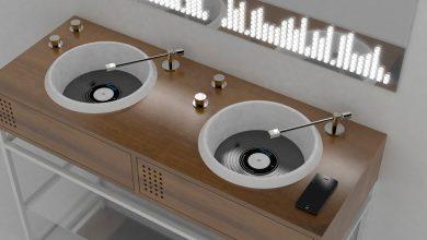 Photo of Badeværelsesmøbler til vinyl-elskeren