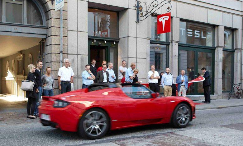 Photo of Tesla lukker prestigebutik i København