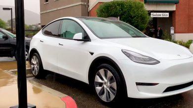Photo of Tesla Model Y prototype fanget på video