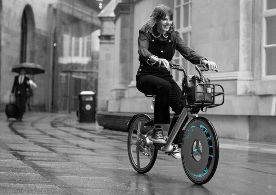 Cykel med filter mod luftforurening