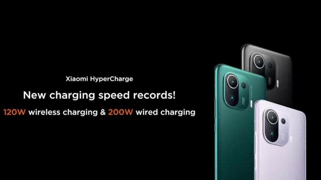 Xiaomi fremviser 200W HyperCharge-teknologi